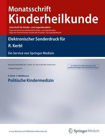 R. Kerbl, F. Waldhauser - Politische Kindermedizin