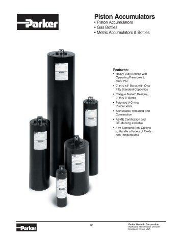 Piston Accumulators - Oleosistemas