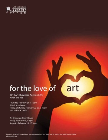 for the love of art - Alaska Public Media