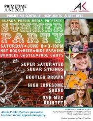 June Program Guide e-Magazine - Alaska Public Media