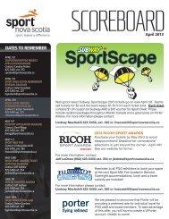 April 2013 - Sport Nova Scotia