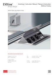 Anleitung / Instruction Manual / Manuel d'instruction EVOline FlipTop
