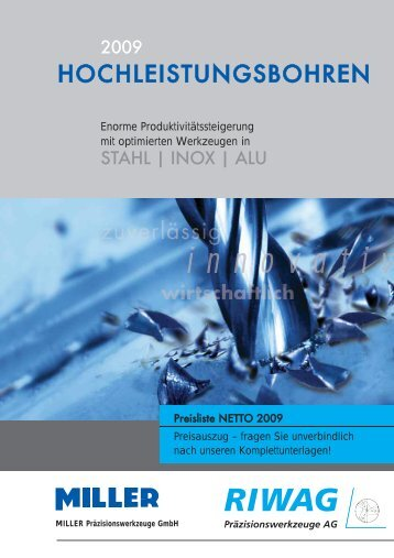 HOCHLEISTUNGSBOHREN - Riwag Präzisionswerkzeuge AG