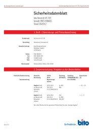 Sicherheitsdatenblatt VS 720 - Bito AG