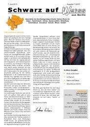IMPRESSUM In dieser Ausgabe: - Sabine Weiss MdB