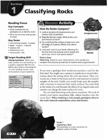 How Are Metamorphic Rocks Classified Worksheet