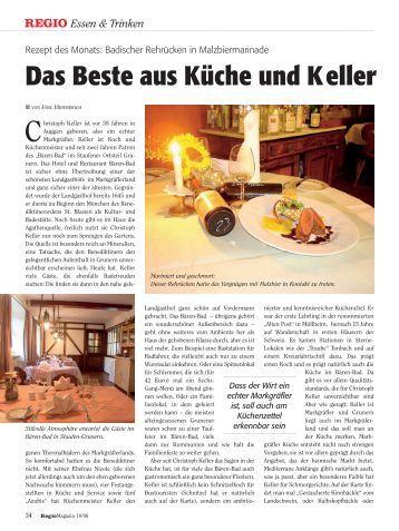 Das Beste aus Küche und Keller - Landgasthof Rebstock Sulzburg