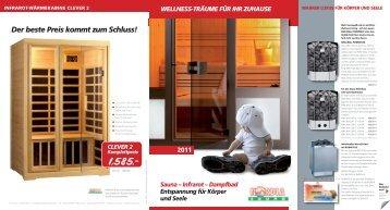 Wellness Träume für ihr Zuhause - Nordia Sauna