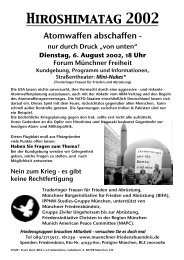 Flugblatt (PDF 200k) - Münchner Bürgerinitiative für Frieden und ...