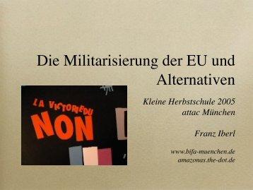 Die Militarisierung der EU und Alternativen