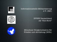 die Vortragsfolien als PDF - Münchner Bürgerinitiative für Frieden ...