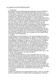 ALLGEMEINE GESCHÄFTSBEDINGUNGEN 1. Allgemeines Diese ...