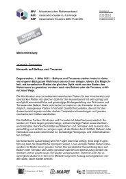"""01.03.2013 - Medienmitteilung """"Keramik auf Balkon und Terrasse"""""""