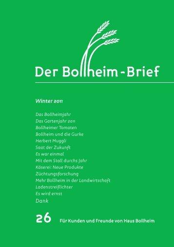 Winter 2011 Dank - Haus Bollheim