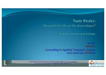 Workshop Summary - Australian Association for the Study of Peak ...