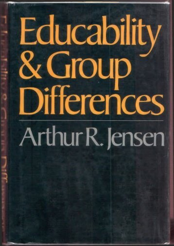 Educability-and-Group-Differences-1973-by-Arthur-Robert-Jensen