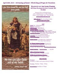 4th Sunday of Easter—World Day of Prayer for Vocations