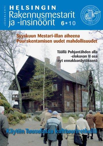 Yhdistyksen jäsenlehti 6/10, PDF tiedosto - Helsingin ...