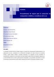 Procedimiento de mejora para la extracción de compuestos ... - OTRI