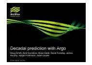 D d l di ti ith A Decadal prediction with Argo - Euro-Argo