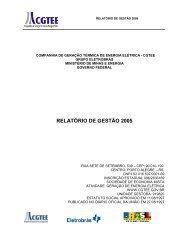 RELATÓRIO DE GESTÃO 2005 - CGTEE