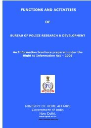FUNCTIONS AND ACTIVITIES OF - Bureau of Police Research and ...