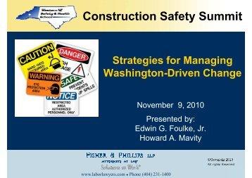 Foulke_Mavity_Western NC Safety Conference 11-9-10 ...