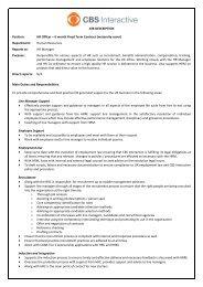 Position: P - CBS Interactive UK