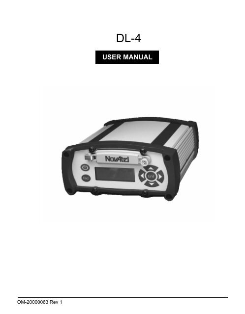 DL4 Novatel GPS User's Mannual