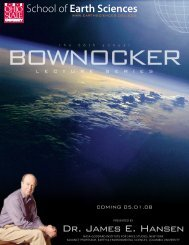 2008 Bownocker Lectures - OSU School of Earth Sciences - The ...