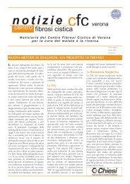 notizie - Centro Regionale Veneto Fibrosi Cistica