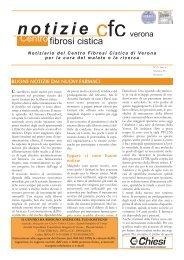 N. 19, Anno 6, Settembre 2011 - Centro Regionale Veneto Fibrosi ...
