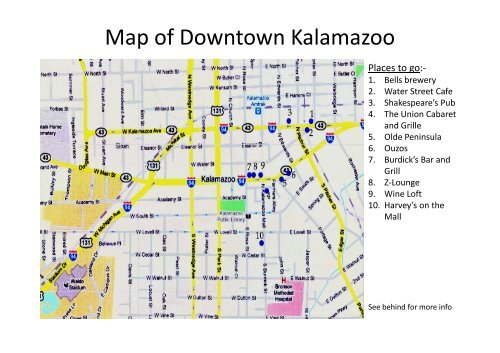 Map of Downtown Kalamazoo Kalamazoo Map on luna pier map, alger heights map, commerce twp map, city map, fort custer training center map, west chicagoland map, bad axe map, st. ignace map, saginaw valley map, madison heights map, cooper township map, west covina map, livonia map, davenport university map, grand rapids community college map, three rivers map, ypsilanti map, akron canton map, norman map, bangor map,
