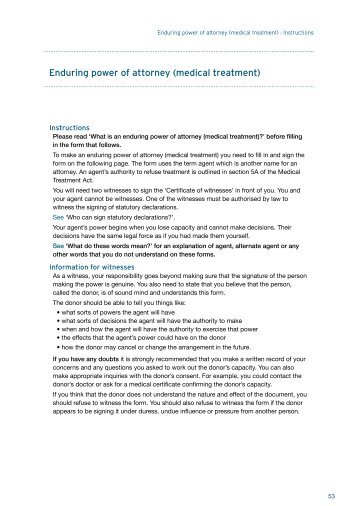 General Power Of Attorney Form With Instructions