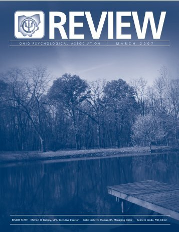 The OP Review March 2007 - Ohio Psychological Association