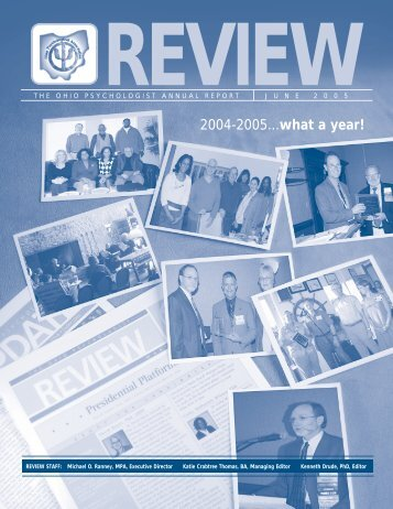 The OP Review June 2005 - Ohio Psychological Association