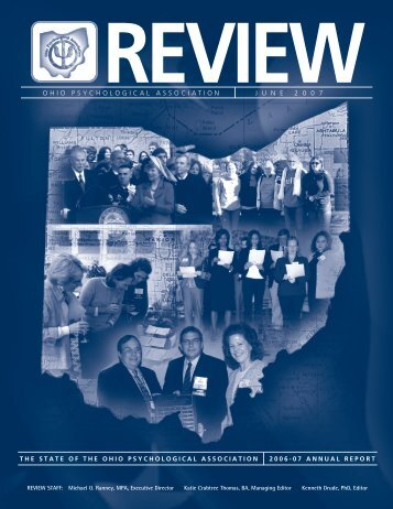 The OP Review June 2007 - Ohio Psychological Association