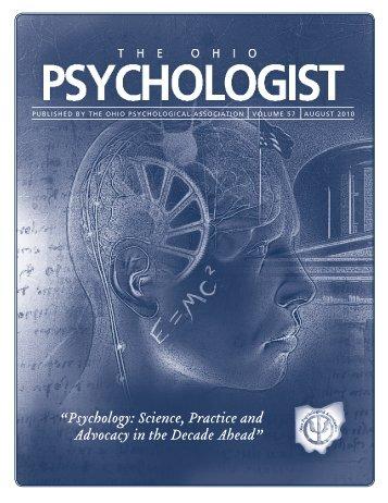 2010 Ohio Psychologist - Ohio Psychological Association