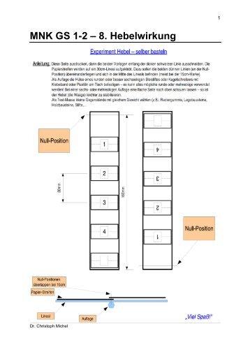 MNK GS 1-2 – 8. Hebelwirkung