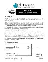TNEW2-CGA to VGA Converter - Editware