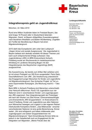 Integrationspreis geht an Jugendrotkreuz