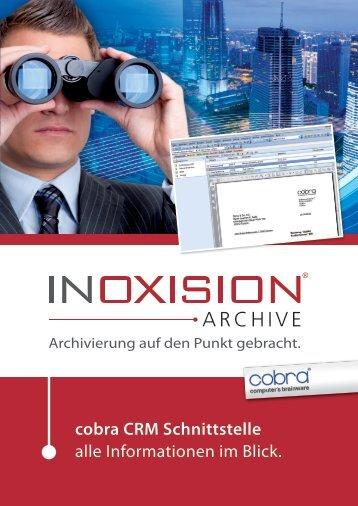 cobra CRM Schnittstelle alle Informationen im Blick.