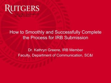 How to Smoothly and Successfully Complete the Process for IRB ...