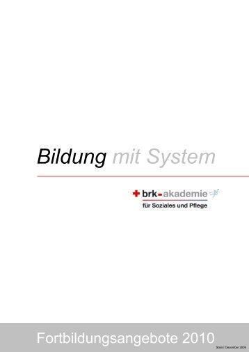 Bildung mit System - Bayerisches Rotes Kreuz