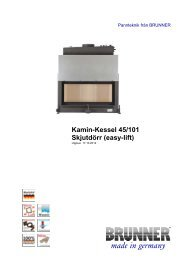 Kamin-Kessel 45/101 Skjutdörr (easy-lift) made in germany - Brunner