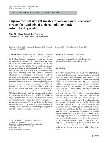 Improvement of natural isolates of Saccharomyces cerevisiae strains ...