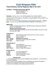 Itinerary, Central Regional, 5:21:10 - Randy's Wrestling Site