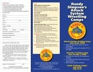 Summer Camp Brochure - Randy's Wrestling Site