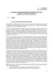 zakon o spremembah in dopolnitvah zakona o osnovni Å¡oli