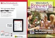 Weindorf Brevierle 2012 - Stuttgarter Weindorf